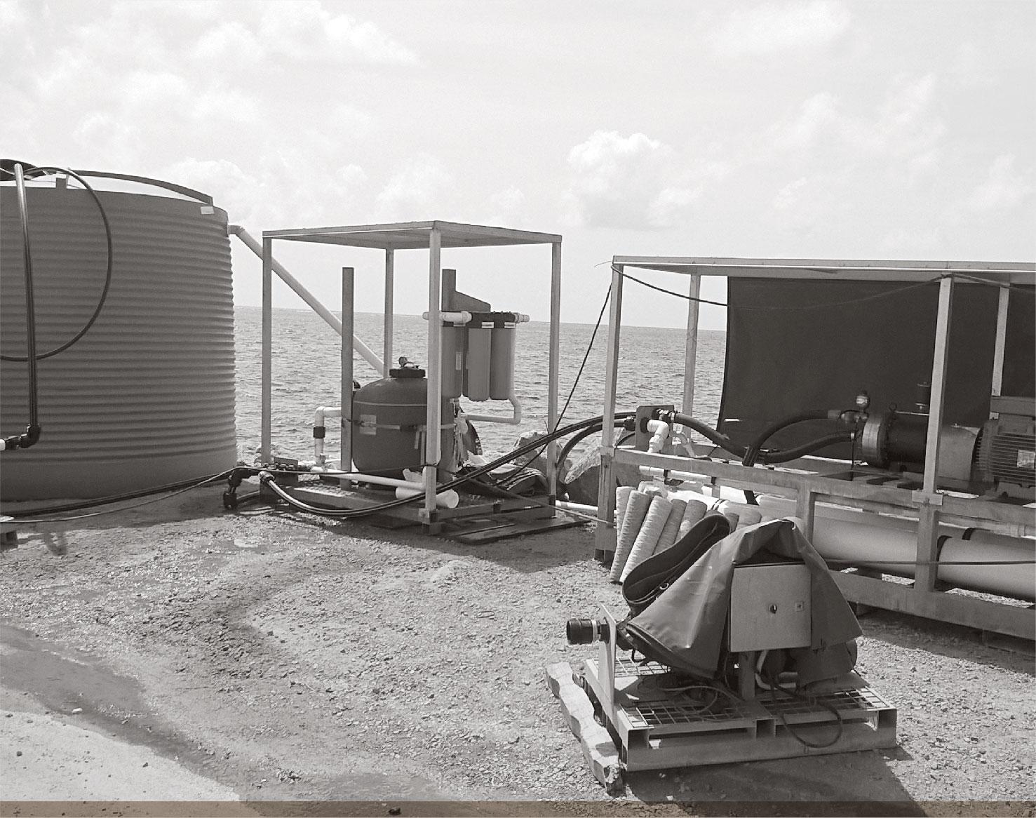 a photograph of MOBILE DESALINATION UNIT.