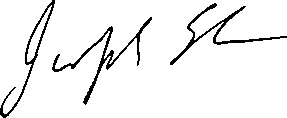 a photograph of signature of Joseph Elu