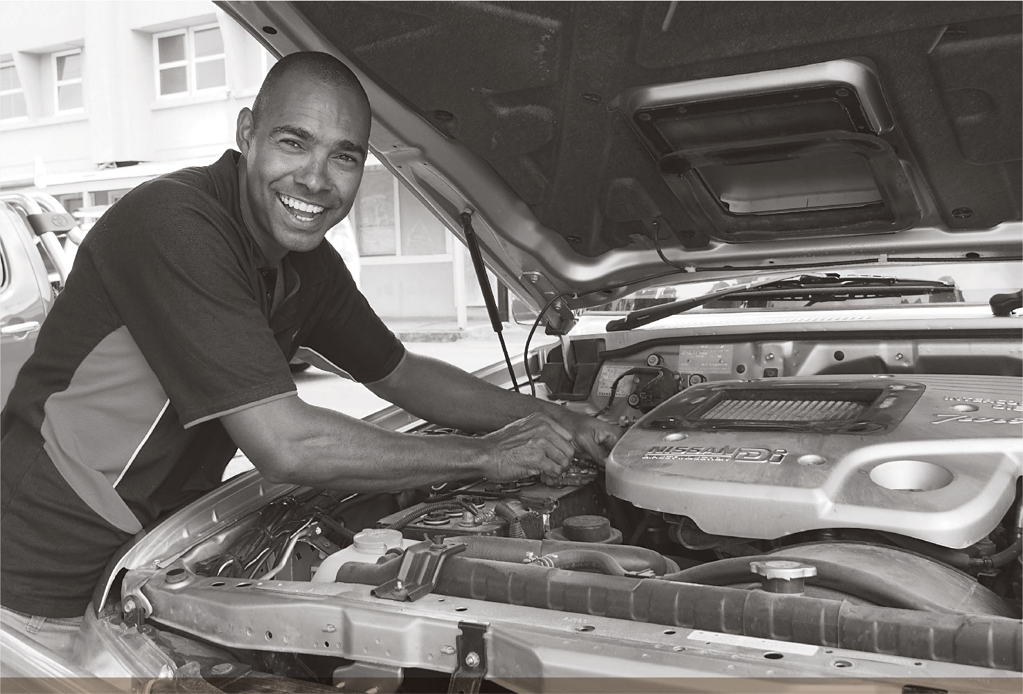 a photograph of HAMMOND ISLAND MECHANIC AND BUSINESS OWNER EUGENE DORANTE.