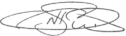 a photograph of signature of Napau Pedro Stephen AM
