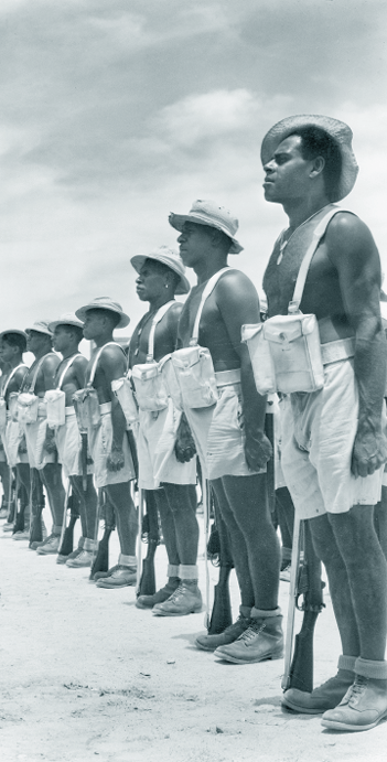 A photograph of Soldiers of the Torres Strait Light Infantry Battalion C Company