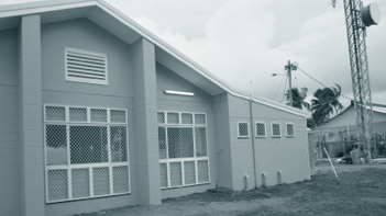 A photograph of the Mabuyag Community Hall after renovation