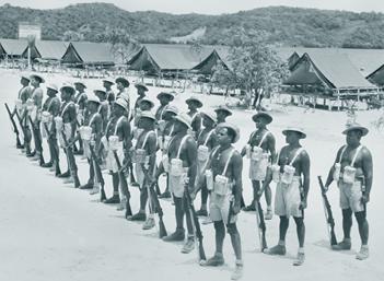 A squad of the Torres Strait Light Infantry Battalion