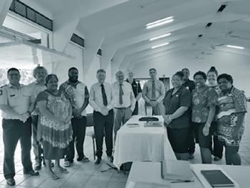Court circuit personnel visiting Saibai Community in August 2018