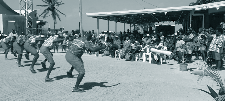 A photograph of Kigu Dance Troop performing