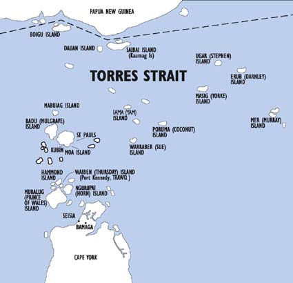 Murray Island Australia Map