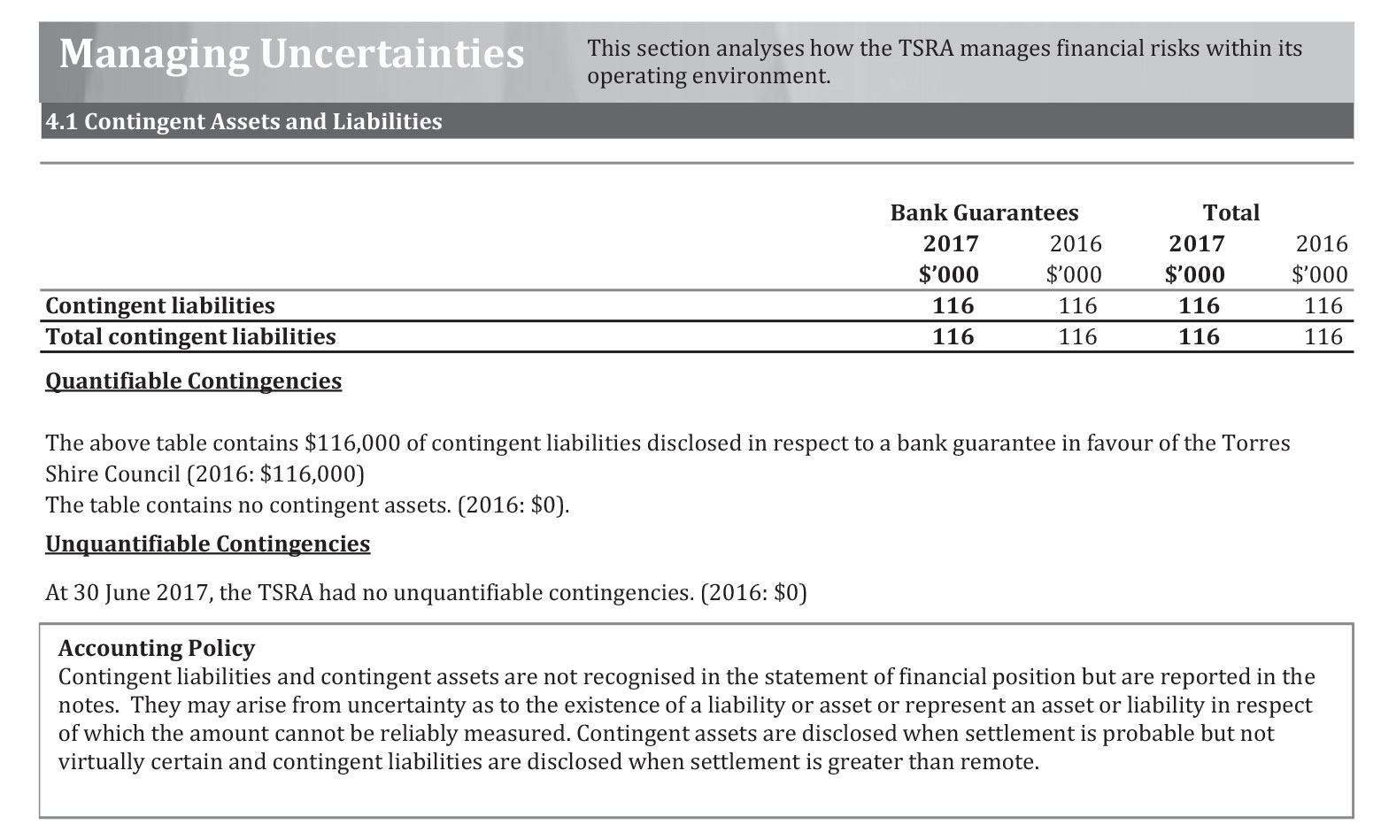 a photograph of Managing Uncertainties document (page 1)