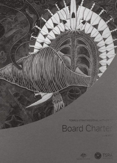 A photocopy of the cover of the TSRA Board Charter