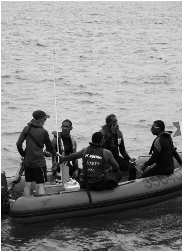 a photograph of Departing for marine safety training