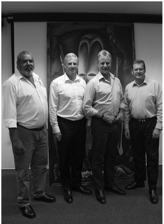 a photograph of Protected Zone Joint Authority members with Senator the Hon Nigel Scullion