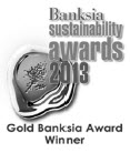 a photograph of Banksia sustainability awards 2013 logo