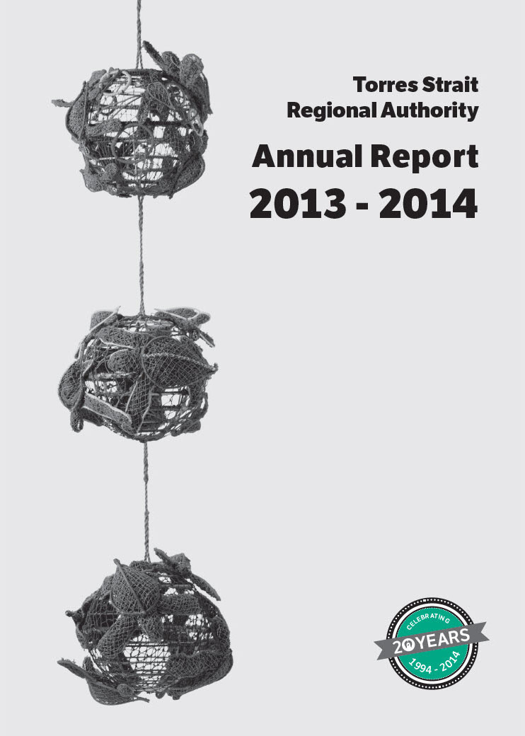 a photograph of TSRA Annual report 2013-2014