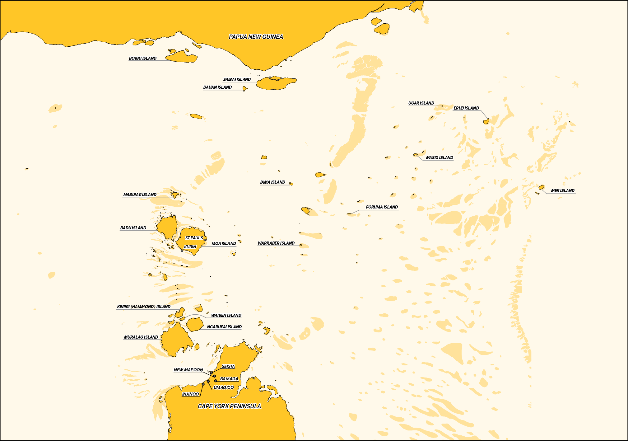 a map of the Torres Strait Region